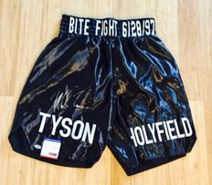 Mike Tyson /  Original Signed Black Boxing Pants - with Certificate of Authenticity PSA/DNA