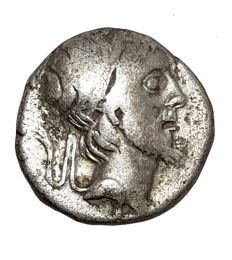 Greek Antiquity - Kings of Cappadocia, Ariobarzanes III Eusebes Philoromaios. 52-42BC. AR Drachm