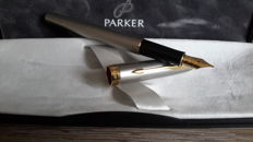 Parker Sonnet-France P. III-Fountain Pen-Gold-Plated Trim-Parker In Luxury Gift Box