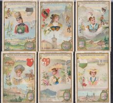lot van 2 Albums chromos liebig - 130 old series of 6 cards in very good condition - from 1892 to 1910