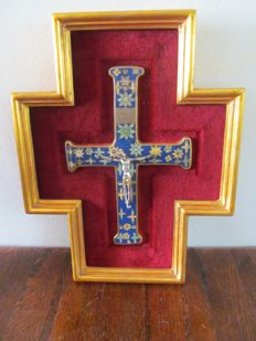 Copy of a cross from the Vatican museum with certificate - Italy - second half 20th century