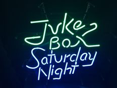 "New Neonsign ""Jukebox Saturday Night""-20 th century."