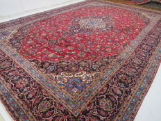 Wonderful beautiful Persian carpet Kashan/Iran 496 x 347 cm, end of the 20th century, XXL oversize GREAT QUALITY oriental carpet ***PATINA***