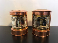 Set high quality masthead and stern light - fully copper - ca. 1950