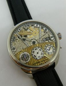 Ulysse Nardin - Yacht cockpit skeleton dial - marriage watch -ca 1920
