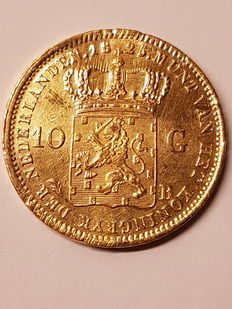 The Netherlands - 10 guilder 1825, Willem I - gold