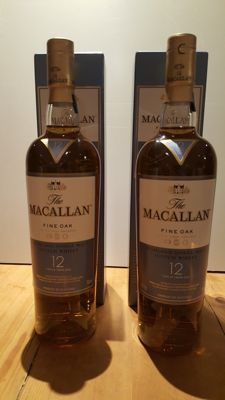 2 bottles Macallan Fine Oak 12 years old