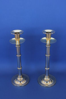 Unknown designer - Pair of single-candle holders