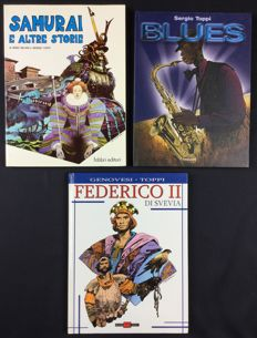 Toppi, Sergio - lot of 3 books illustrated by Toppi (1980-2003)