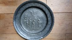 Old tin baptising bowl