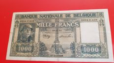 Belgium - 1000 francs 1944 - type Dinasty - Pick 128b