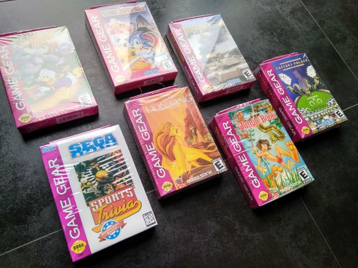 SEGA Game Gear Lot of 7 Game Gear games  Brand new / Sealed
