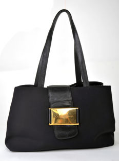 Dolce and Gabbana - Canvas and leather  shoulder bag - **No minimum price**