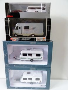 Various - Scale 1/43-1/87 - Lot with 7 models: 7 x Caravan