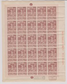 Belgium - Collection of whole sheets, partial sheets and blocks