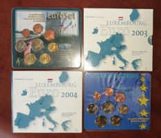 Luxembourg - 4 x Annual Euro Coin Set 2002/2003/2004 & Numismata 2004