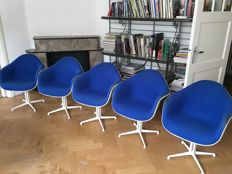 "Charles & Ray Eames for Herman Miller - Set of five ""La Fonda"" arm chairs"