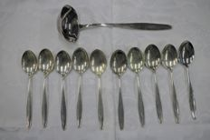 Art Nouveau 800 silver spoon ladle cutlery RARE Germany, around 1900