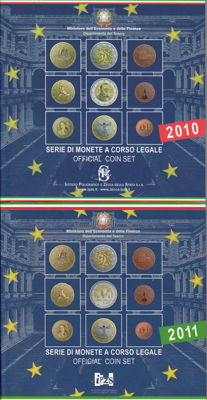 Italy - year sets 2010/2016 (total of 8 sets)