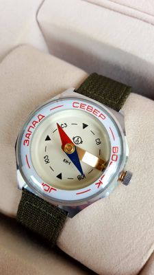 Military Air Force  Soviet Russian  Wrist Compass ChChZ (Chelyabinsk Clock Factory) USSR .
