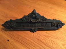 Empire letterbox French bronze