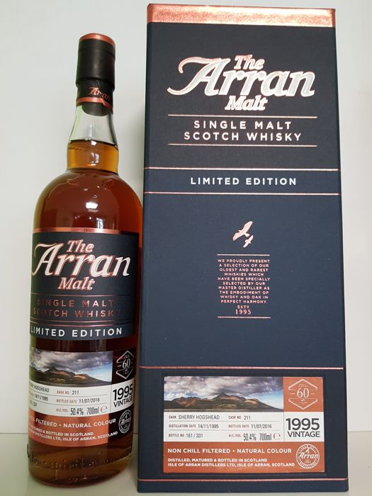 Arran 1995 Sherry Hogshead #211 for 60th Anniversary of LMDW - bottled 2016
