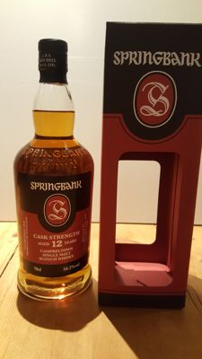 Springbank 12 years old cask strength 54.2% - OB - 2017 release