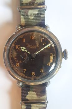 Military Style Marriage Wristwatch Chronometre - Switzerland ,1925s