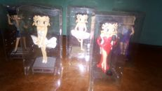 Betty Boop - 5x figurines/ small statues - Polyresin - 12 to 15 cm tall