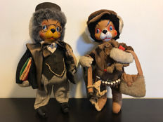 Set of two very old dressed dogs - Brand Bieler - Barcelona - Spain - around 1970