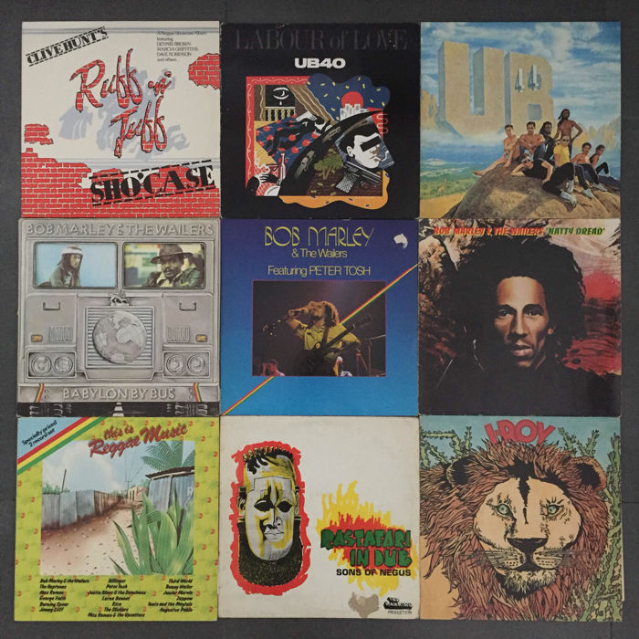 Lot of 9 Reggae albums; Bob Marley & the Wailers, Sons of Negus (