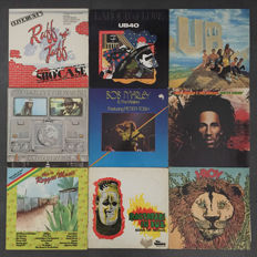 Lot of 9 Reggae albums; Bob Marley & the Wailers, Sons of Negus (rare edition), I-Roy, UB40 and others