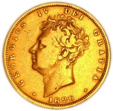 United Kingdom - Sovereign 1826 William IV - gold
