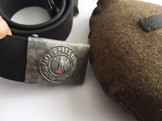 Wehrmacht aluminium buckle. WWII German drinking bottle Ww2