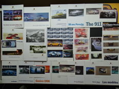 1995 - 2010 - PORSCHE 356, 550 Spyder, 901, 911 Targa, 911 Carrera 4S, 911 Turbo, Cayenne, etc - Mixed lot of one hardcover book, 15 original sales brochures & 22 original factory postcards
