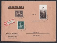 German Reich + territories batch 1900 to 1944 with 66 propaganda cards, postal used, envelopes, SSt, field post etc.