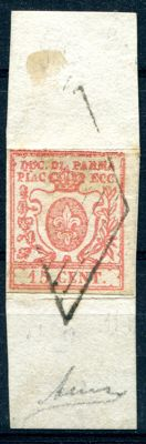 Parma 1859/15 – 15 Cents vermilion – Sassone No. 9