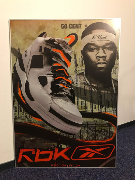 newest 5fbe8 080a3 Very large Reebok RBK poster - I Am What I Am campaign - sneakers -