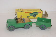Dinky Toys - Scale 1/43 - Land Rover No.27D and Land Rover Trailer No.341