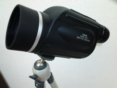 Zoom monocular: 13x50 (114Ft@1000Yds) Nitrogen Filled! + handle + tripod (leather tube case - ca 1960)