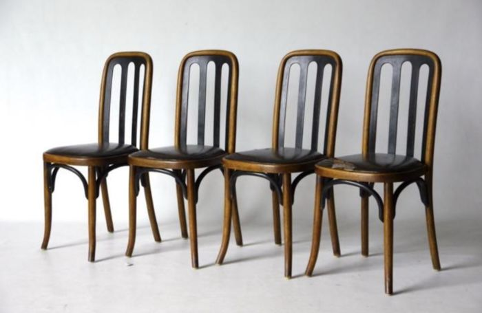 Beau Josef Hoffmann   Set Of 4 Dining Chairs For Thonet   1905