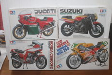Lot of 4 vintage Tamiya moto model kits