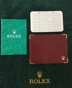 Rolex Classic Red Leather VIP Holder - Multinational Translation Brochure - Calendar Card -code:101.60.55--- No Reserve Price --Item Number: 83
