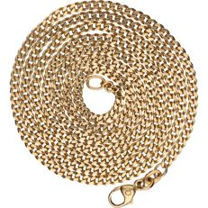 14 kt - Yellow gold curb link necklace - Length: 61.5 cm