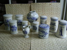 Collection of porcelain apothecary jars