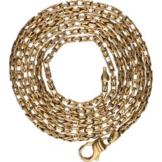 14 kt - yellow gold king´s braid link necklace - length: 71 cm