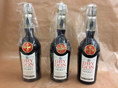Amontillado Sherry Sandeman Don Dry DO Jerez - 3 old bottles
