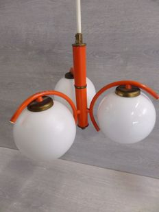 Unknown designer - Orange Space Age Pendant Light