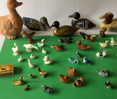 Large collection of 46 miniature ducks