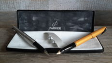 1 Parker Inflection fountain pen + 1. Parker 15 fountain pen-Parker In luxury storage box